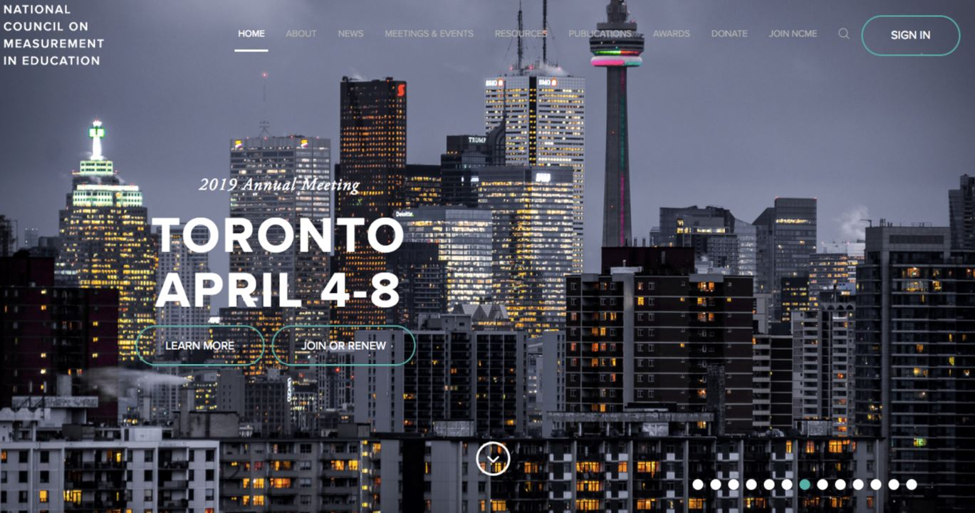 National Council on Measurement in Education conference in Toronto, Canada