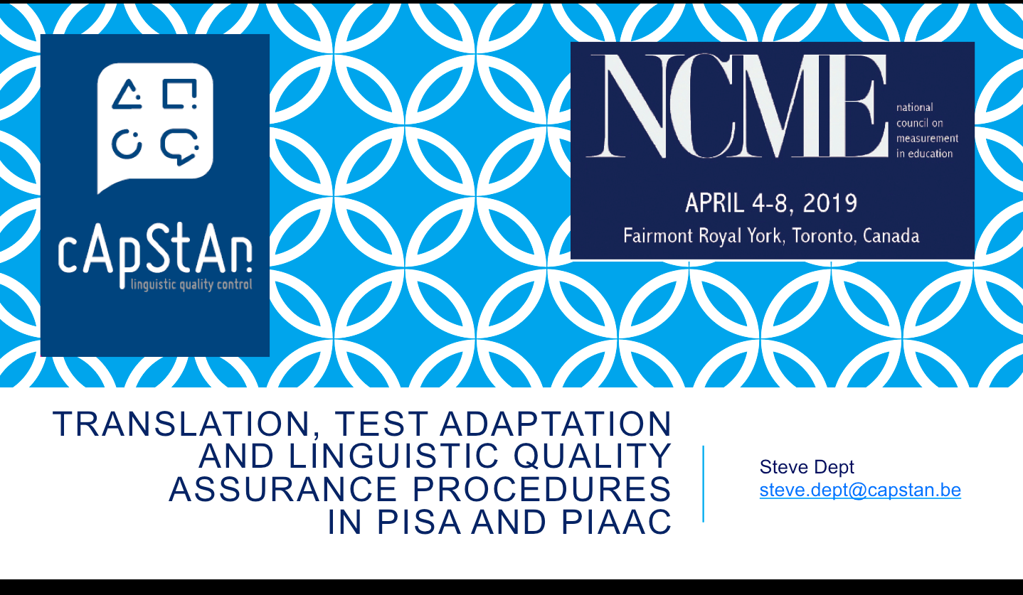 Translation, test adaptation and linguistic quality assurance procedures in International Large Scale Assessments