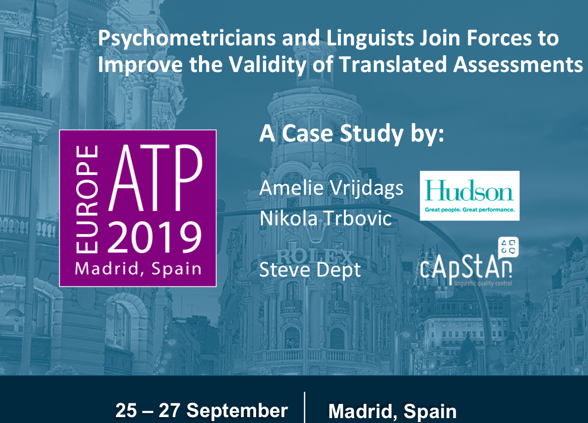 E-ATP 2019, Madrid, Room Comendador, Thursday 26 September, 15:15-16:15