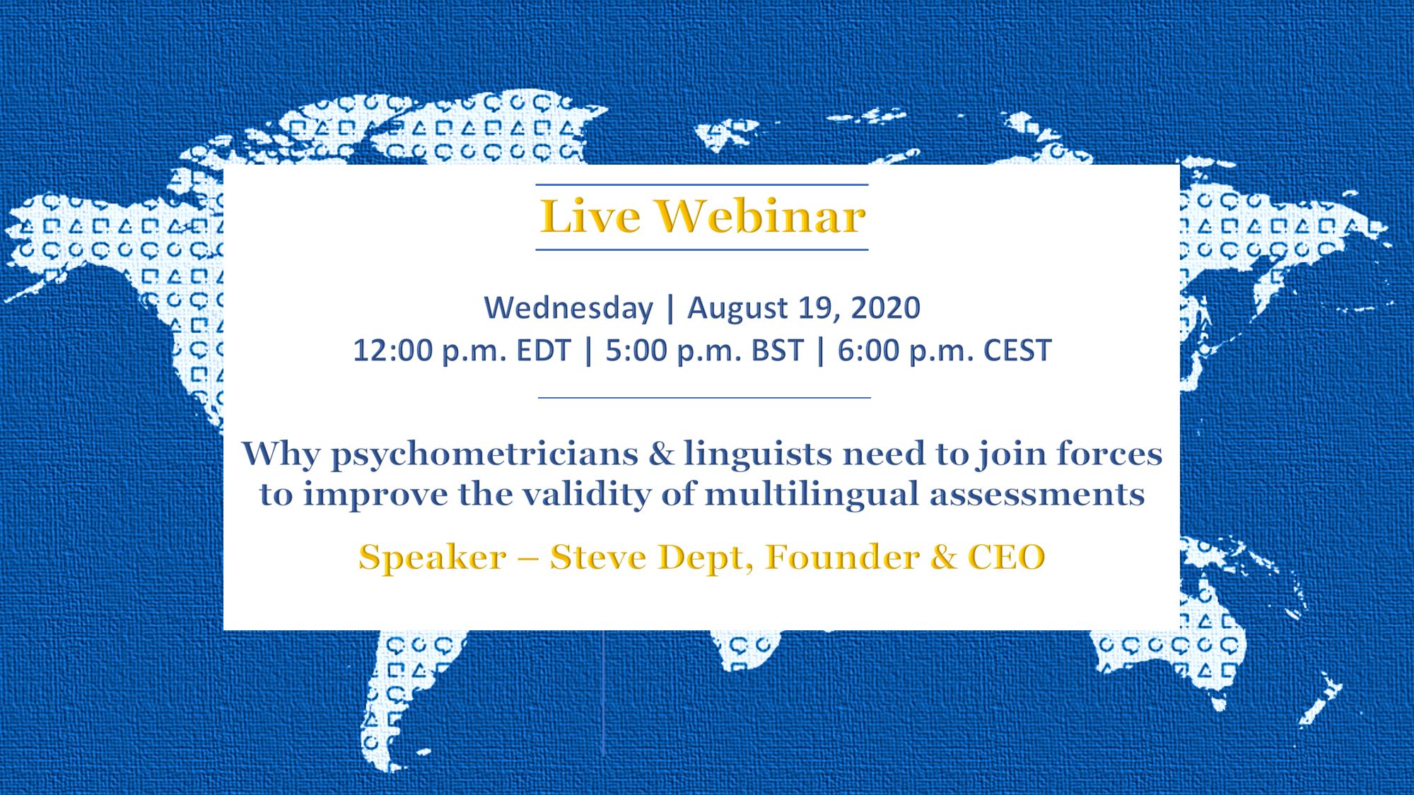 Webinar | Why psychometricians & linguists need to join forces to improve the validity of multilingual assessments