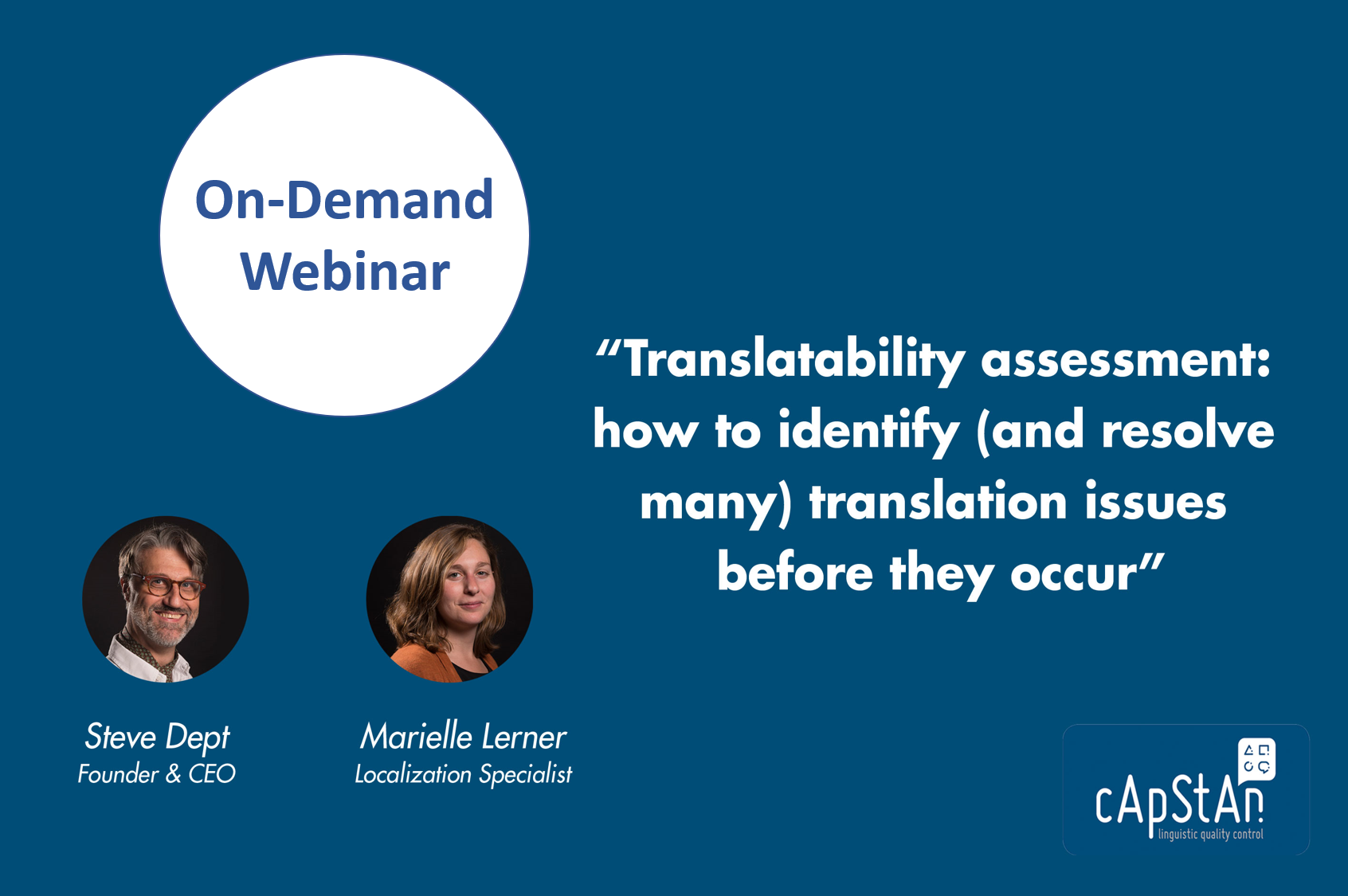 Translatability Assessment: How to Identify (and Resolve many) Translation Issues before They Occur