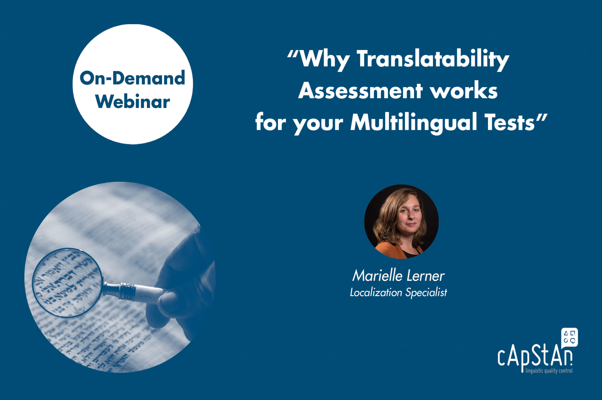 On-Demand Webinar | Why Translatability Assessment works for your Multilingual Tests
