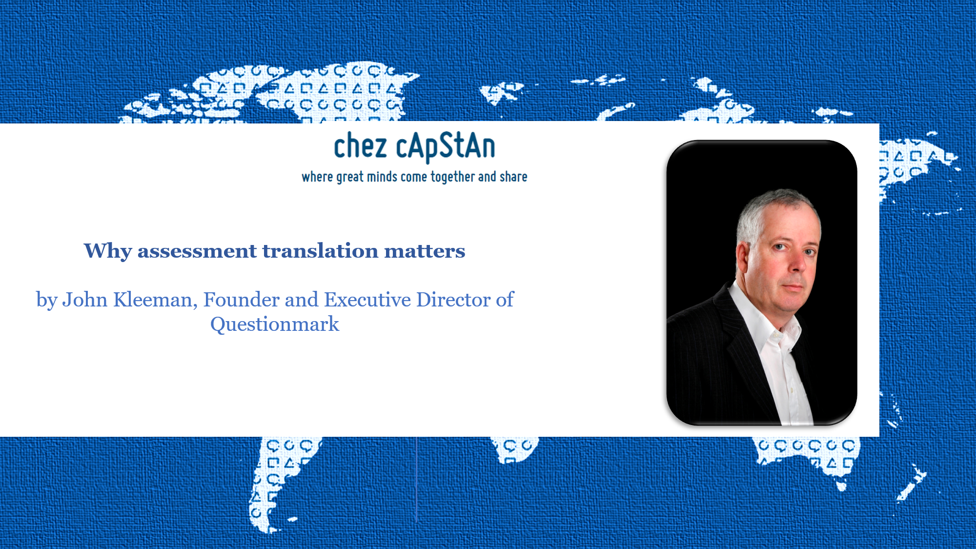 Why assessment translation matters