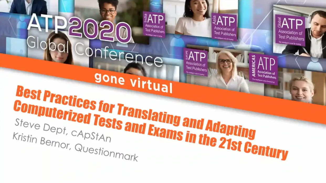 Best Practices for Adapting and Translating Computerized Tests and Exams in the 21st Century