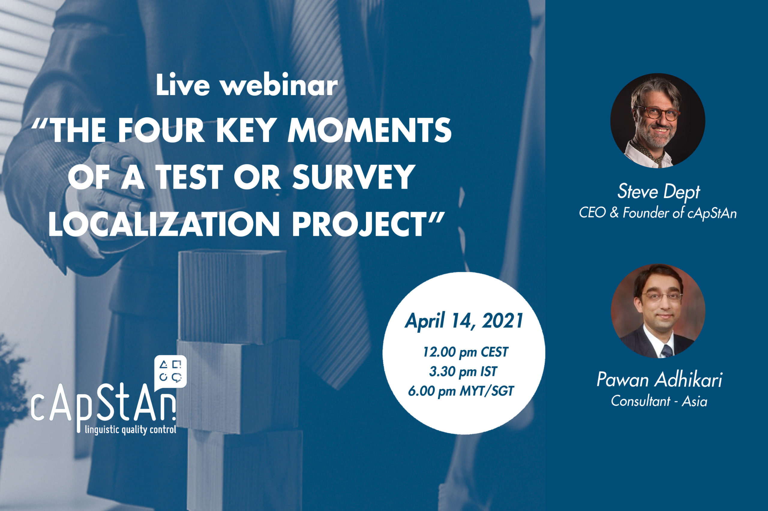 The Four Key Moments of a Test or Survey Localization Project