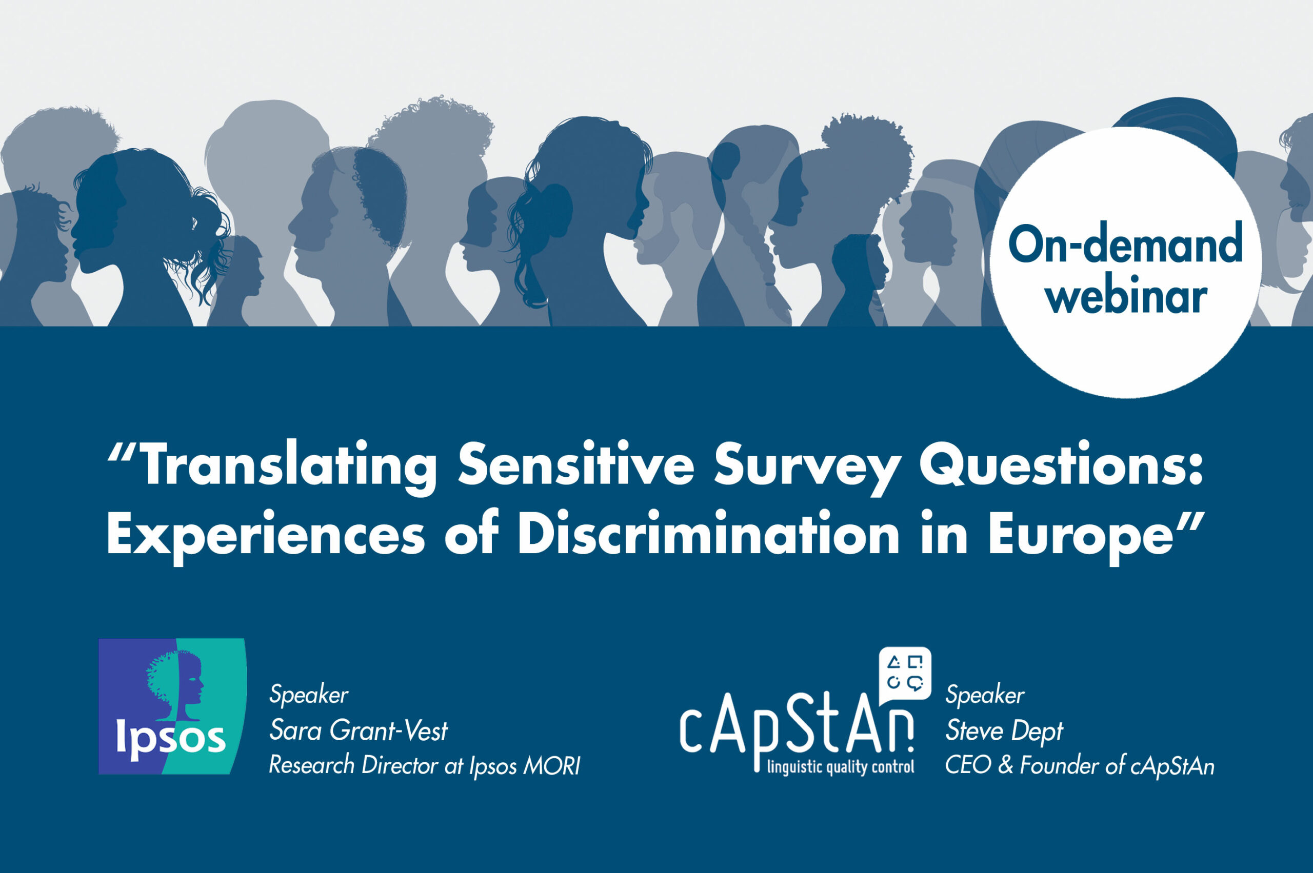 DETAILED TRANSCRIPT: TRANSLATING SENSITIVE SURVEY QUESTIONS – EXPERIENCES OF DISCRIMINATION IN EUROPE